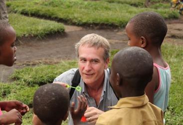David Johns with Children