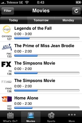 Free TV-Guide USA iPhone App