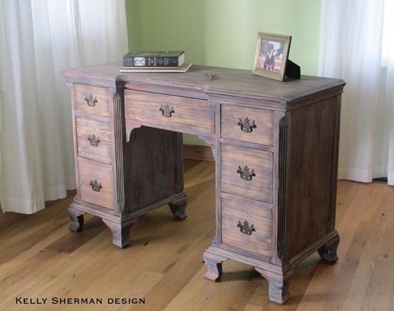 desk stain paint ceruse cerusing