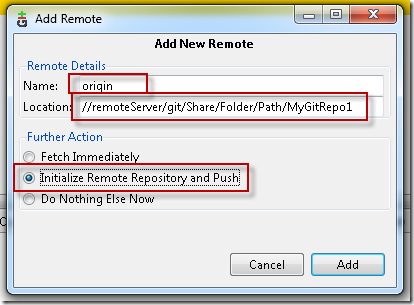 Git on Windows: Creating a network shared central repository