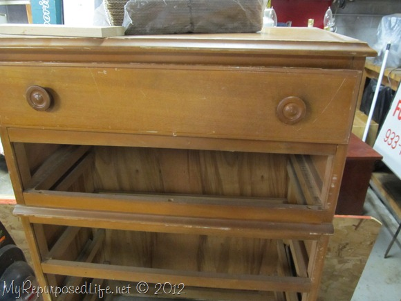 Chest of Drawers into Ent. Center