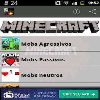 Guia de Mobs para Minecraft
