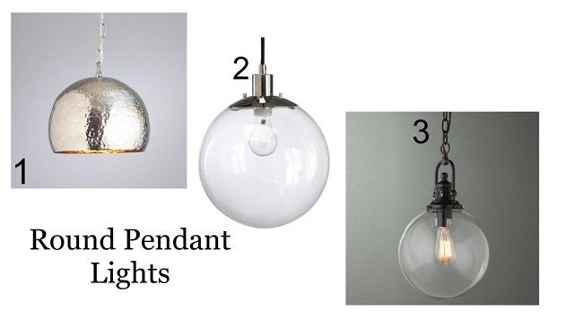 Nickel Pendant Kitchen Light
