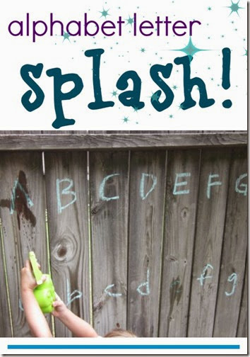 Alphabet Letter Splash #alphabet #preschool
