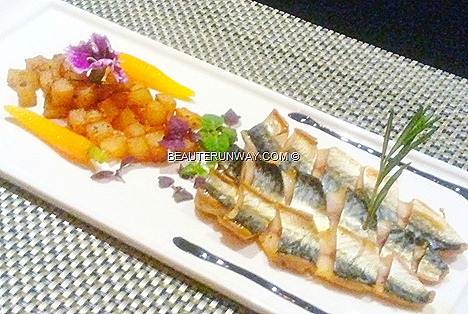 THE HALIA VALENTNE'S DAY Menu Grilled Atlantic mackerel saute potato thyme rosemary Singapore Botanic  Gardens