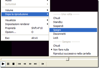 Media Player Classic spegnimento automatico del PC