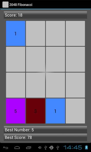 Fibonacci 2048 Puzzle Game