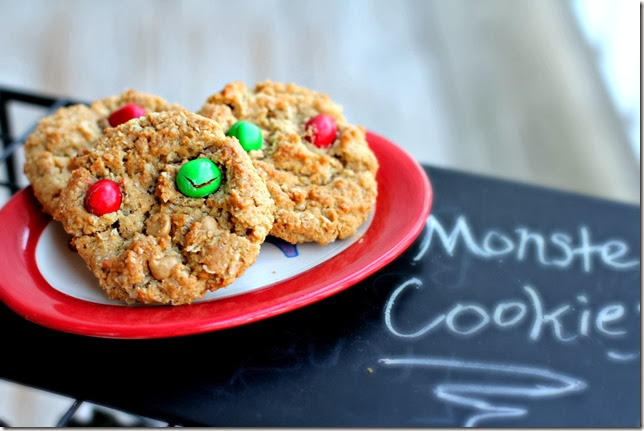 Peanut Butter M&M Monster Cookie2