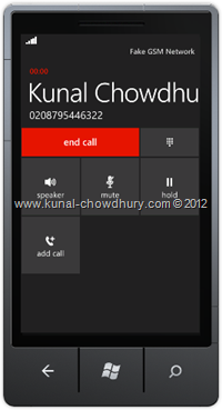 Screenshot 2: How to Call a Number in WP7 using the PhoneCallTask?