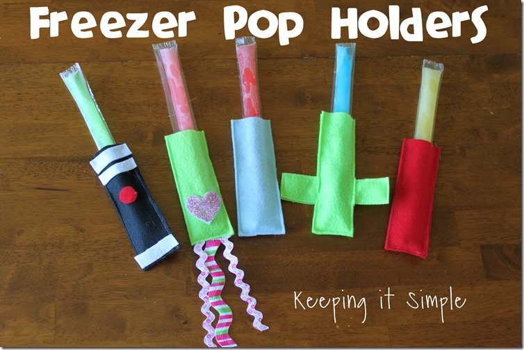 Freezer pop holder