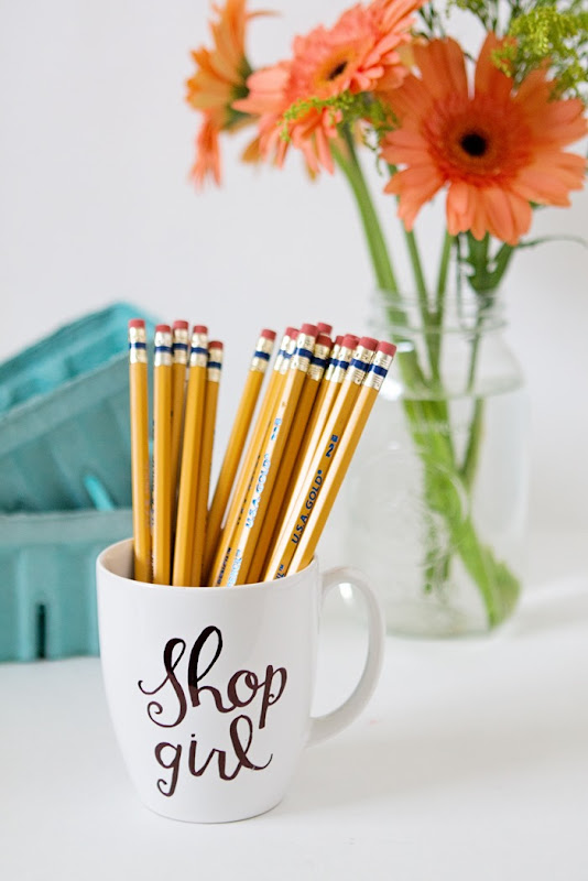 You've Got Mail DIY a bouquet of freshly sharpened pencils