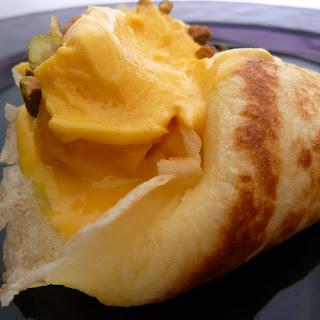 Sweet Dosas with Frozen Mango-Cardamom Lassi.