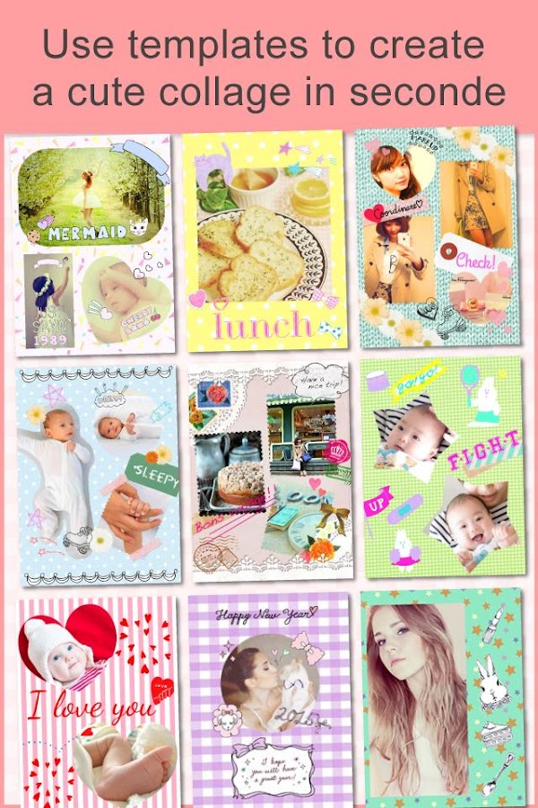 Collage&Add Stickers papelook - screenshot