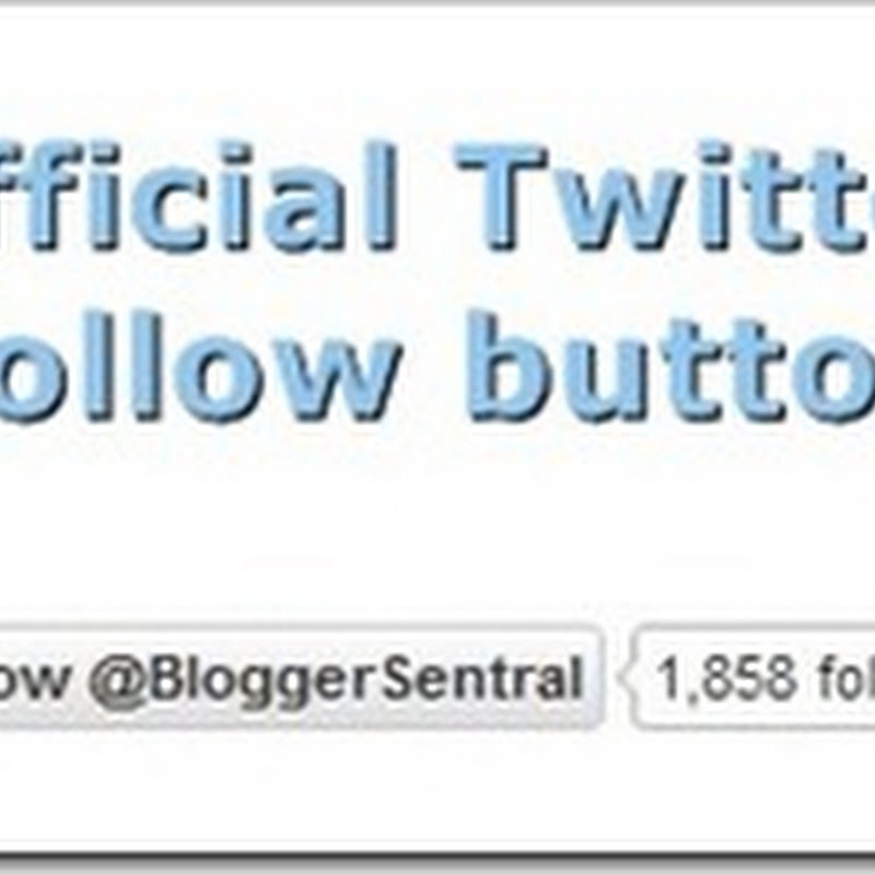 Adding official Twitter follow button to Blogger
