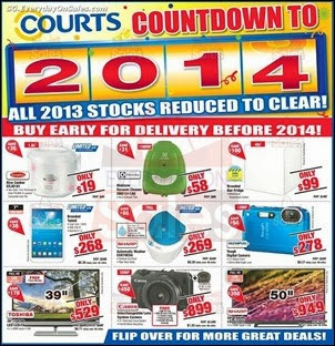 bd7ef8ed917496 Courts Countdown To 2014 Special Singapore Jualan Gudang EverydayOnSales  Offers Buy Sell Shopping