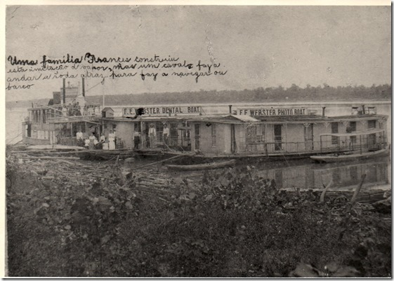 Webster Dental & Photo Boats 1896 to 1902 at Lake Charles Louisiana