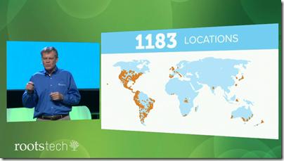 丹尼斯布里姆尔显示了roottech附属家庭历史展览会的地图