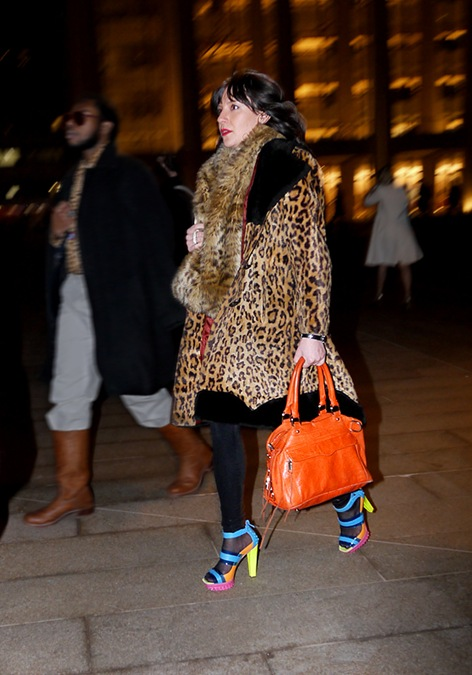 leopard coat and scarf orange bag multi color heeled sandles