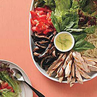 Italian-Style Grilled Chicken Lettuce Wraps.
