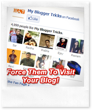 pull traffic from facebook fan page