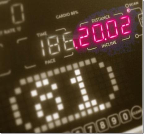 treadmill 20 miles