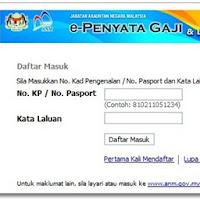 E Penyata Gaji Checking Pay Slip Online