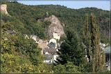 Felsenkirche, darüber Burg Bosselstein
