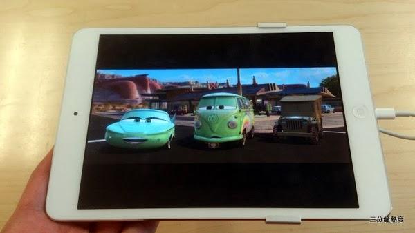 iPad mini 看16比9的畫面。浪費了