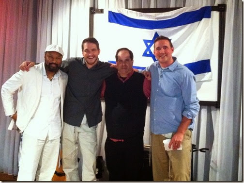 Picture of Andrew Gabriel Roth, Micha'el Ben David, myself (2nd from left) and my older brother Jesse