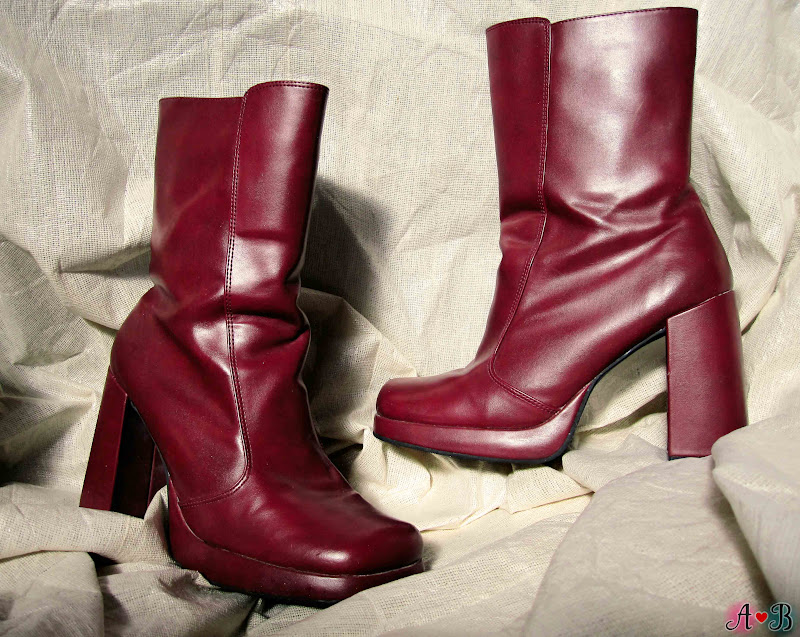Burgundy Square Toe Boots
