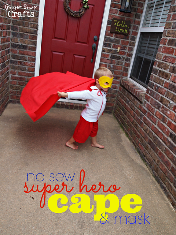 no sew super hero cape #gingersnapcrafts