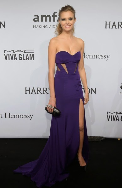 Josephine Skriver attends the 2015 amfAR New York Gala