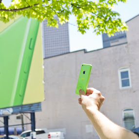 iPhone 5C by Will Ballew - Artistic Objects Technology Objects ( green, apple, cell phone, iphone, 5c )