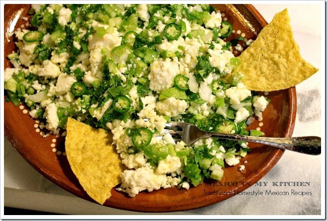 Cheese Appetizer in Chile Verde | Mexican Recipes