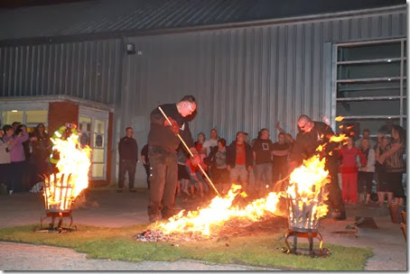 Organisers stoke up a fire for the St Luke's FireWalk