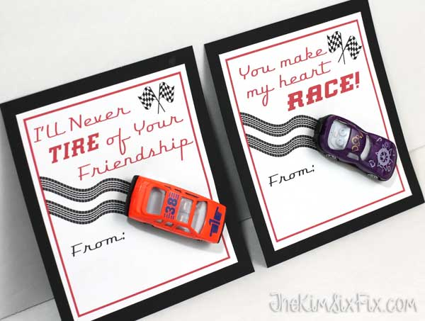 Race car valentine