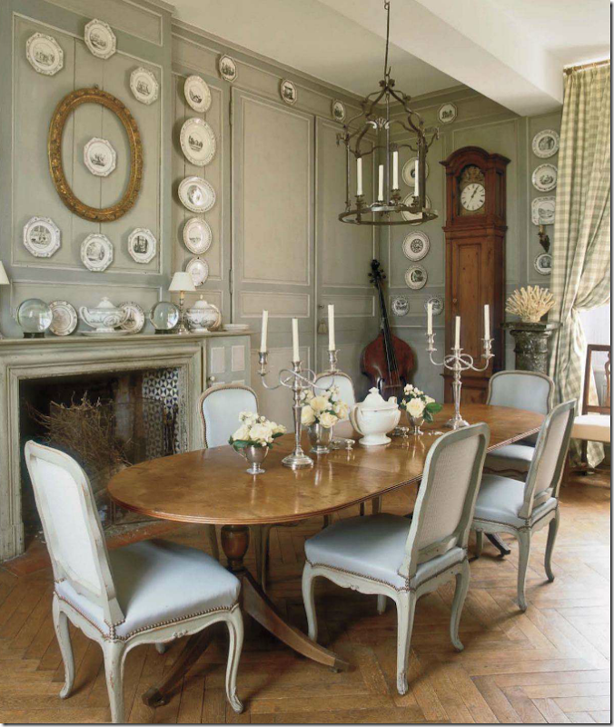 Louis Chairs Make Great Dining Room In A French House Antique XV Light Blue With Nailheads Beautiful