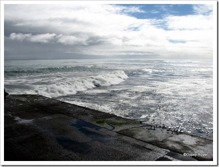 The swell across the Greymouth bar.