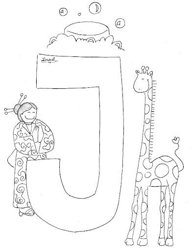 J Abecedario Profesiones Dibujalia Dibujos Para Colorear