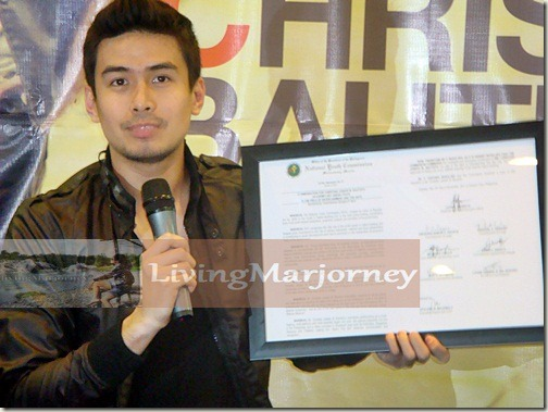 Christian Bautista as Exemplary ASEAN Youth in the Field of Entertainment & Arts