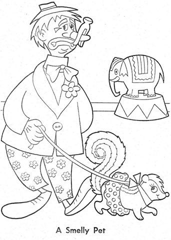 palhaço-colorir-Clowns To Color-coloring page-00015