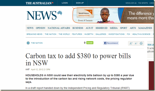 Carbon tax bull The Australian