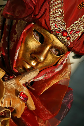 Red & Gold by Dominic Jacob - News & Events World Events ( venezia, red, venice, mask, venise, gold, masque, venetian,  )