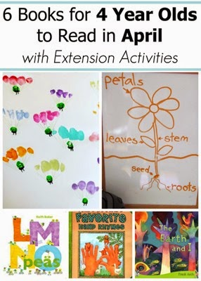 April Books for 4 Year Olds with Extension Projects