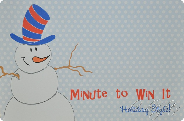 Minute To Win It Holiday Party Tons Of Free Printables Dixie
