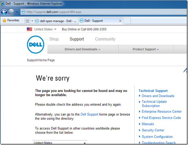 MPECS Inc  Blog: Dell Open Manage Download Link and Default