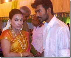 Aishwarya, Dhanuah @ Ravi Raghavendra Daughter's Wedding Photos