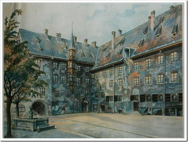 The_Courtyard_of_the_Old_Residency_in_Munich_-_Adolf_Hitler