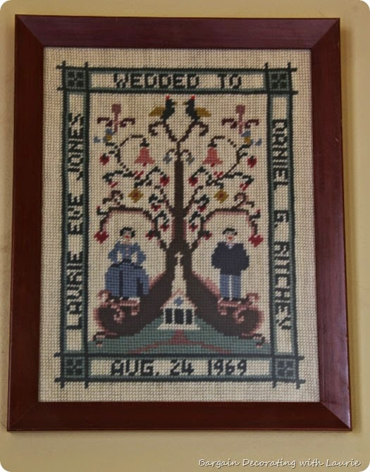 Framed Needlework-Bargain Decorating with Laurie