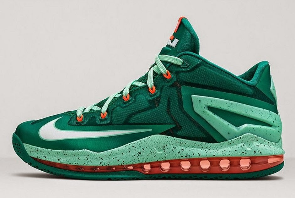 ae13e7341cd2 ... Nike LeBron 11 Low 8220Biscayne8221 8211 Different Shades of Green ...